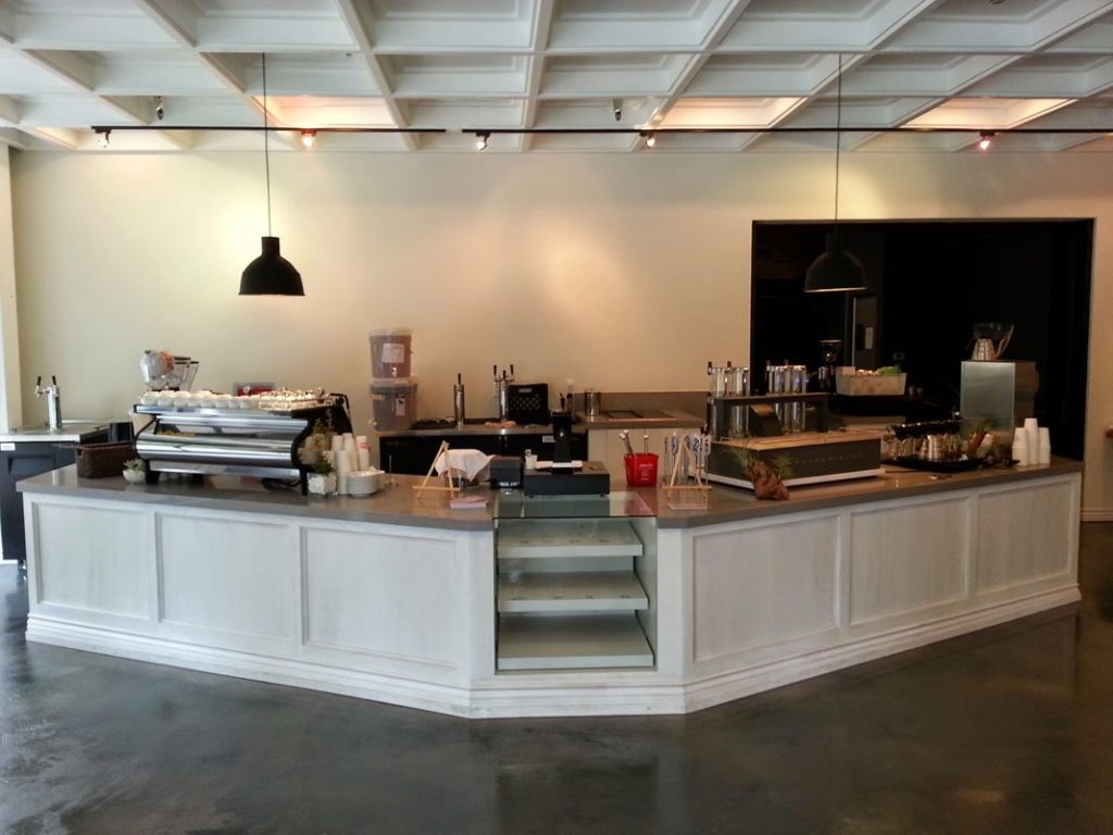 Commercial counter build